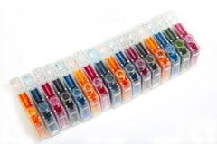 kassetter tömmer färgpulverbläckstråleskrivaren Royaltyfri Fotografi