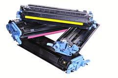kassettskrivarfärgpulver Arkivfoton