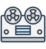 Kassettspelaren, kassettregistreringsapparat isolerade vektorsymbolen som kan lätt redigeras i något format eller ändras stock illustrationer