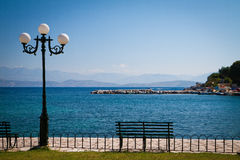 Kassiopi bay Stock Images