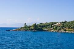 Kassiopi bay on Corfu island - Greece Royalty Free Stock Photos