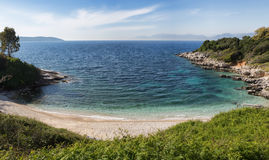 Kassiopi Beach, Corfu, Greece Royalty Free Stock Photography
