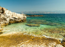 Kassiopi Beach, Corfu Island, Greece Royalty Free Stock Photo