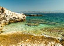Kassiopi Beach, Corfu Island, Greece Royalty Free Stock Photo