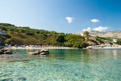 Kassiopi Beach, Corfu Island, Greece. Stock Photo