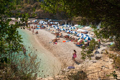 Kassiopi Beach, Corfu Island, Greece. Stock Photos