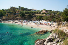 Kassiopi Beach, Corfu Island, Greece. stock images