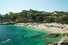 Kassiopi Beach, Corfu Island, Greece. Royalty Free Stock Image