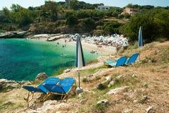 Kassiopi Beach, Corfu Island, Greece. Royalty Free Stock Photography