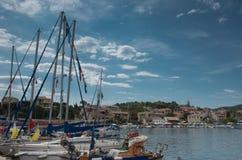Kassiopi, Corfu foto de stock