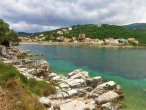 Kassiopi in het Eiland van Korfu Royalty-vrije Stock Foto's