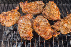 Kassler loin on the grill Royalty Free Stock Image