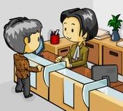 kassör i bank Royaltyfri Bild
