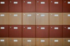 Bruine kast Royalty-vrije Stock Foto's