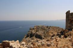 Kast ruiny na Rhodes Zdjęcie Royalty Free