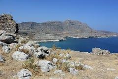 Kast ruiny na Rhodes Fotografia Royalty Free