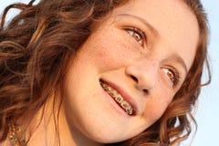 kasta en blick barn för away flicka Arkivfoto