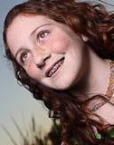 kasta en blick barn för away flicka Fotografering för Bildbyråer
