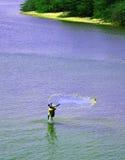 Kasta ett netto på havsavkroken royaltyfri bild