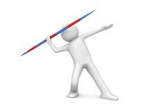 kasta för javelin stock illustrationer