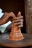 kasta för keramiker Royaltyfri Fotografi