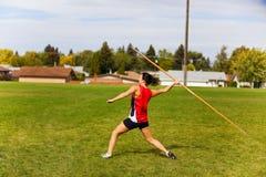 kasta för javelin Royaltyfri Foto
