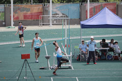 kasta kastspjutet den 6th Hong Kong Games Royaltyfri Bild