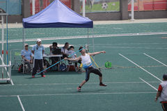 kasta kastspjutet den 6th Hong Kong Games Royaltyfri Fotografi