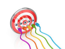 kasta sig färgrika kablar för bräde lappen Royaltyfria Foton