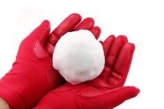 kasta snöboll royaltyfri bild