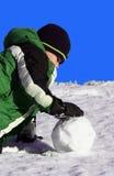 kasta snöboll Royaltyfri Fotografi