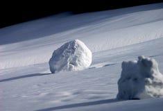kasta snöboll Fotografering för Bildbyråer