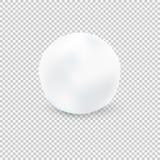 Kasta snöboll på genomskinlig bakgrund också vektor för coreldrawillustration Royaltyfria Foton
