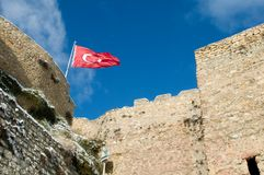 Kastamonu castle - turkey flag Stock Images