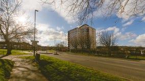 Kastanien-Haus-Turm-Block in Hartcliffe Bristol auf Bishport Allee Lizenzfreies Stockbild