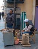 Kastanienverkäufer Stockfotos