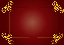 Kastanjebruin bloemenontwerp Stock Afbeelding