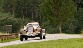 1935 Kastanjebruin Sc 851 in motie Royalty-vrije Stock Foto's