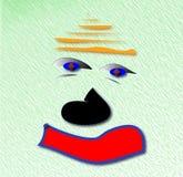 Kastanjebruine droevige clown Royalty-vrije Stock Afbeelding