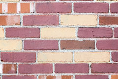 Kastanjebruine en gele bakstenen muur Royalty-vrije Stock Fotografie