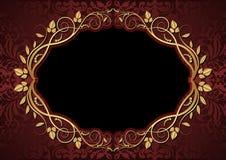 Kastanjebruine en zwarte achtergrond Royalty-vrije Stock Foto's