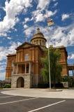 kastanjebrun domstolsbyggnad royaltyfri bild