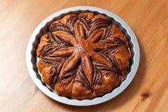 Kastanjebrun kaka Fotografering för Bildbyråer
