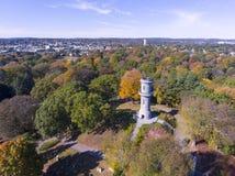 Kastanjebrun kyrkogård för montering, Watertown, Massachusetts, USA arkivbild