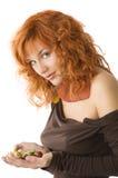 kastanjebrun röd kvinna Royaltyfri Fotografi