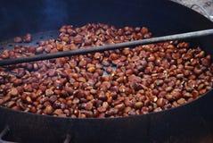 Kastanjes fest tijdens het de herfstseizoen Stock Afbeelding