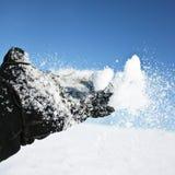 kastar snöboll Royaltyfri Foto