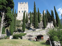 Kasteel, Arco, Italië stock afbeeldingen