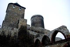 Kasteel in Bedzin, Polen.   stock foto's