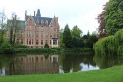 Kasteel België Europa Doolhof Loppem Royalty-vrije Stock Fotografie